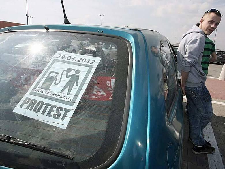 Protest przeciwko wysokim cenom paliw w Rzeszowie [ZDJĘCIA]