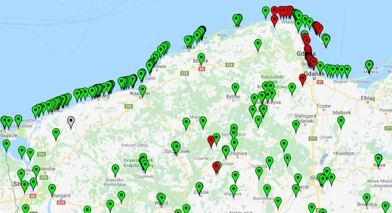Sinice w Bałtyku. Aktualizacja 02.08.2018 Nowa mapa online: Lista kąpielisk - Gdańsk, Gdynia, Sopot, Międzyzdroje, Władysławowo