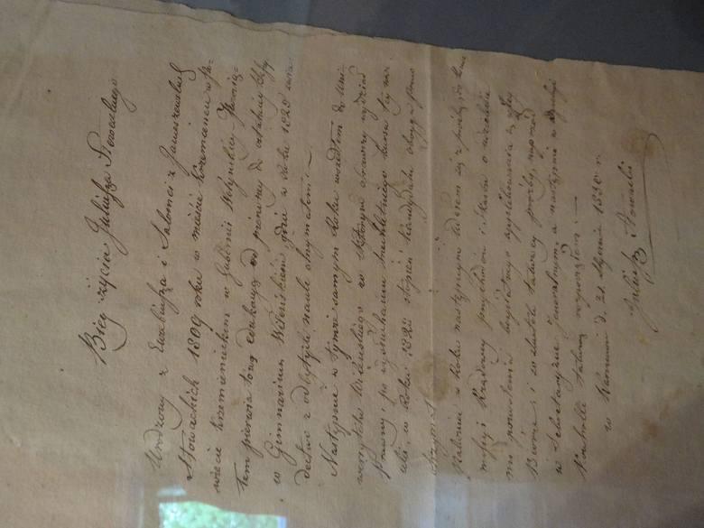 Biografia Juliusza Słowackiego jego ręką własnoręcznie skreślona