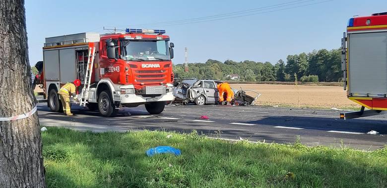 Dziś po godzinie 9 na DK 11 koło Bonina doszło do wypadku. Zderzyły się cztery samochody. Są osoby poszkodowane. Dwie osoby nie żyją. Trwa akcja ratunkowa.