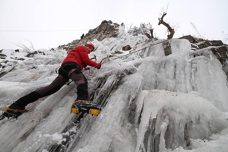 """Mamy """"alpejski"""" lodospad. Gdzie? Na kieleckiej Kadzielni"""