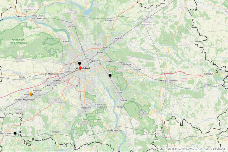 Warszawa i okoliceSzczególną ostrożność należy zachować w dużych miastach i na drogach dojazdowych. W Warszawie i okolicy od początku wakacji doszło