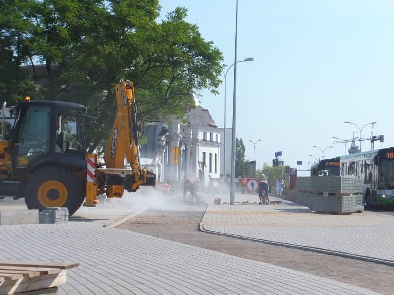 Al. Konstytucji 3 Maja: Remont ulicy (zdjęcia, wideo)