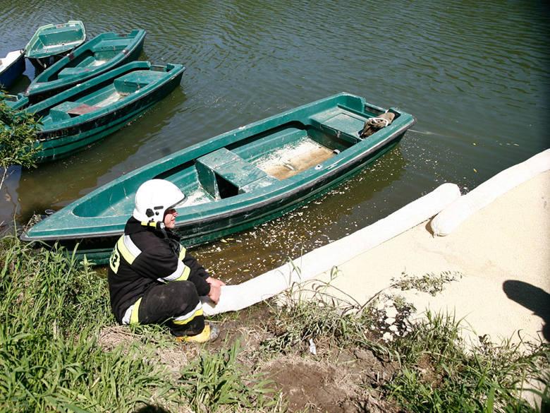 Miejsce zabezpieczyli strażacy. Dzięki temu paliwo nie dostało się do jeziora solińskiego.