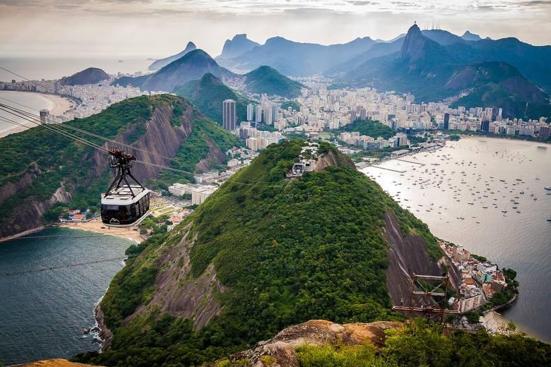 brazylia, wakacje, panorama, wzgórze