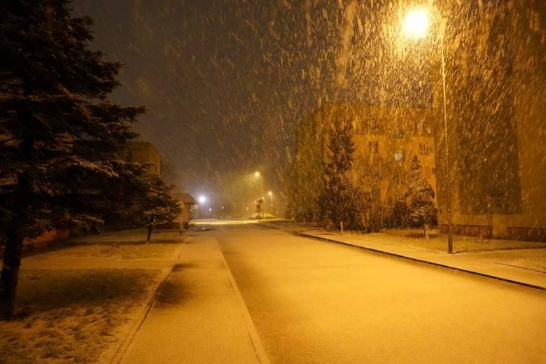 Pierwszy śnieg na Pomorzu, 29.01.2020. Na zdjęciu Debrzno