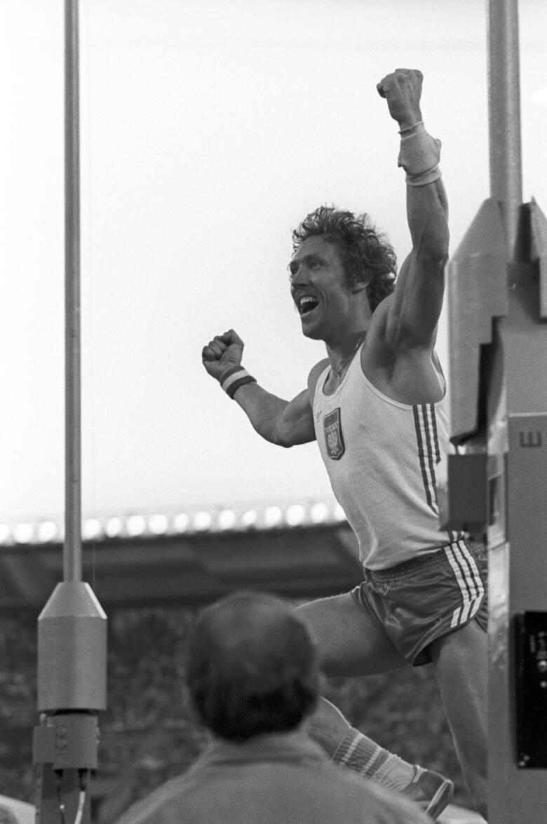 Władysław Kozakiewicz na IO w Moskwie 1980 r.