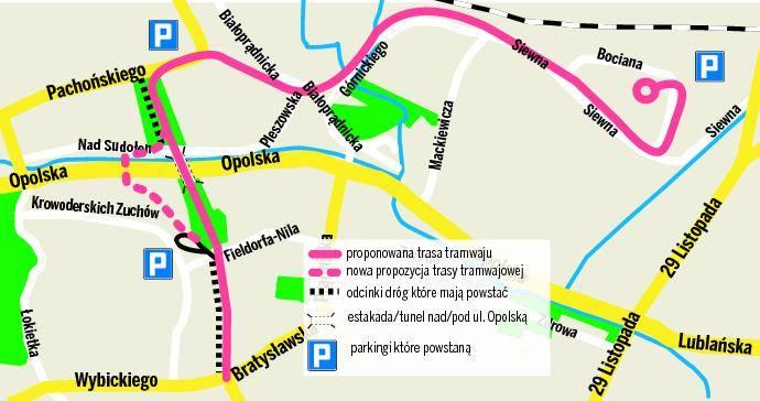 Budowa Linii Na Gorke Narodowa Tramwaj 10 Metrow Od Bloku Mapa