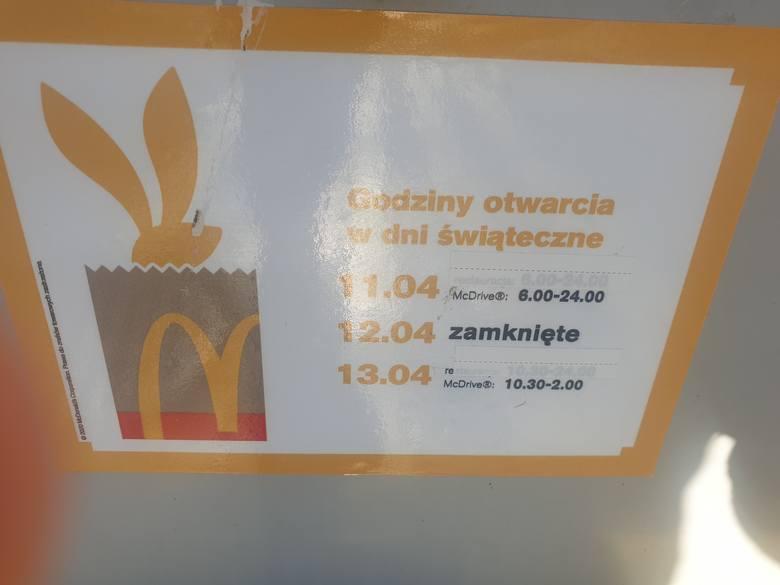 McDonalds a Lany Poniedziałek 2020. Czy McDonald's jest czynny w święta wielkanocne? Czy McDonald's jest otwarty 19 kwietnia 2020
