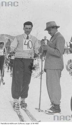 Płk. dypl. Stefan Rowecki na nartach. [3]