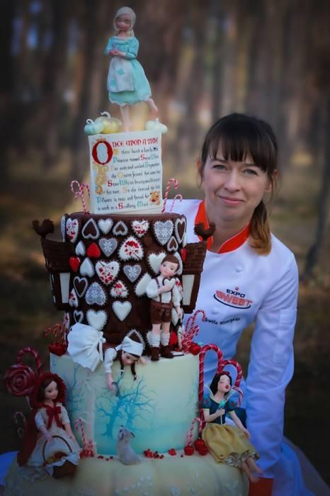 Tort, którym Jowita Woszczyńska zdobyła Mistrzostwo Polski w Dekorowaniu Tortów na Expo Sweet 2019 r.