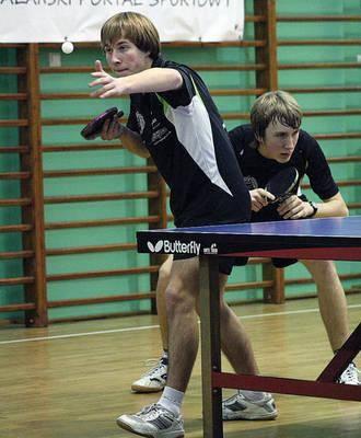 Duet Jakub Czyszczoń (z lewej) - Mikołaj Kierski zdobył jedyny punkt w pojedynku z zespołem z Limanowej Fot. Maciej Zubek
