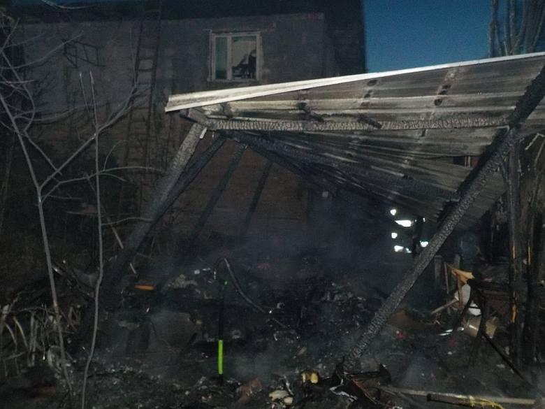 pożar w Goruńsku