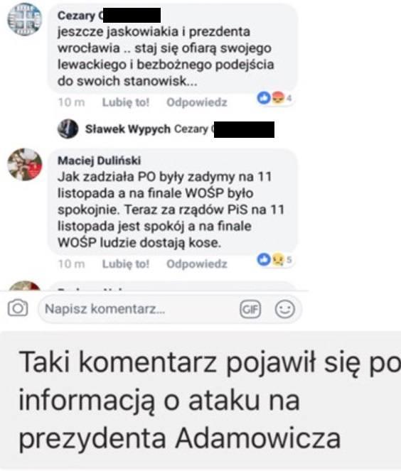 Poznań: Po ataku na Pawła Adamowicza groził Jackowi Jaśkowiakowi. Został zatrzymany przez policję