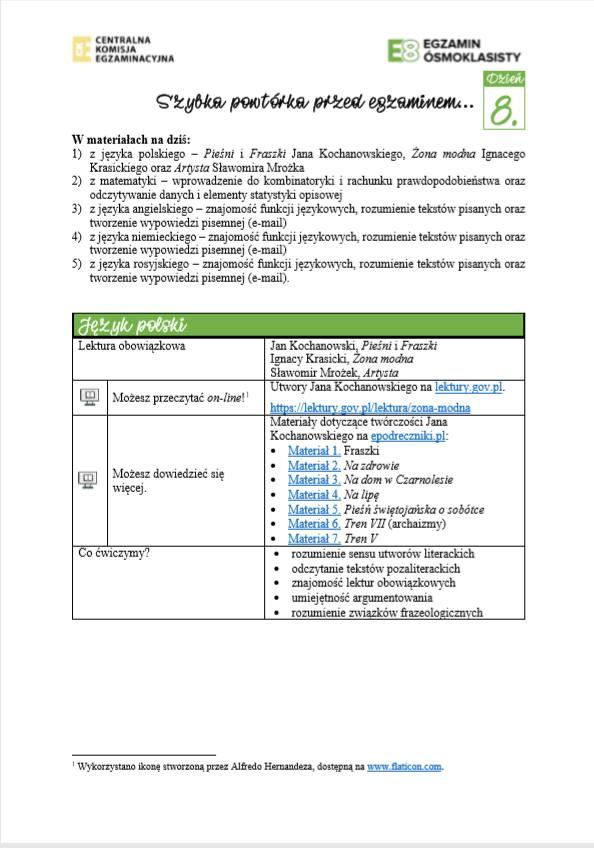 Przykładowe zadania z języka polskiego przygotowane przez CKE.Przejdź, aby zobaczyć więcej ---->