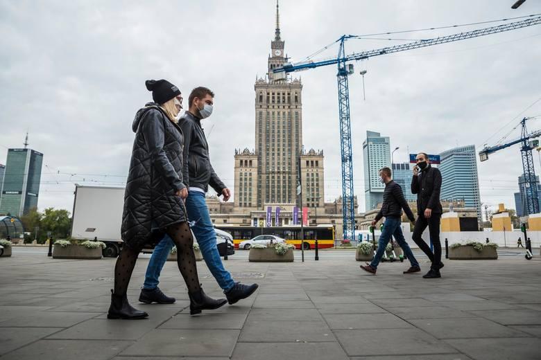 Warszawa w czasach pandemii, 10 października 2020