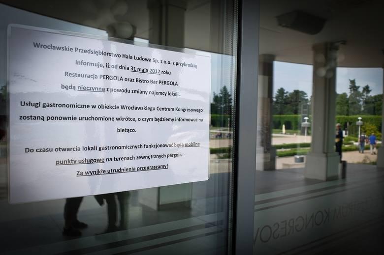 Restauracja na Pergoli zamknięta. Będzie wojna pomiędzy przedsiębiorcą a miastem