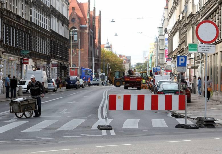 Zamknięta ul. Jagiellońska. Tworzą się korki