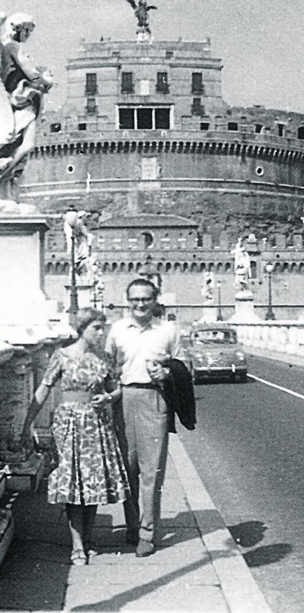 Teresa Sierant i Franciszek Fenikowski w Rzymie