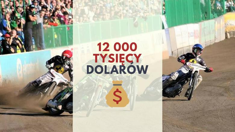 12 tysięcy dolarówW najbardziej prestiżowych turniejach żużlowych, w których dość często widzimy utalentowanych polskich sportowców nagroda główną za
