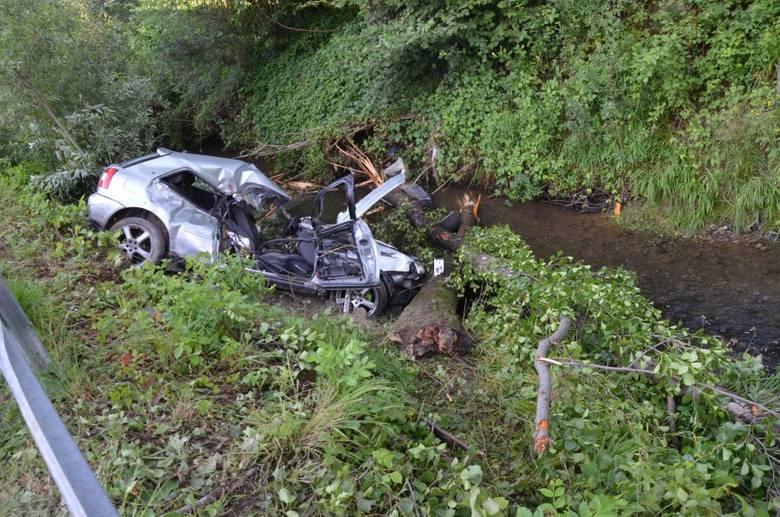 Do wypadku doszło w czwartek w Lubeni w powiecie rzeszowskim. Ze wstępnych ustaleń policjantów wynika, że kierujący audi A3, 19-letni mieszkaniec gminy