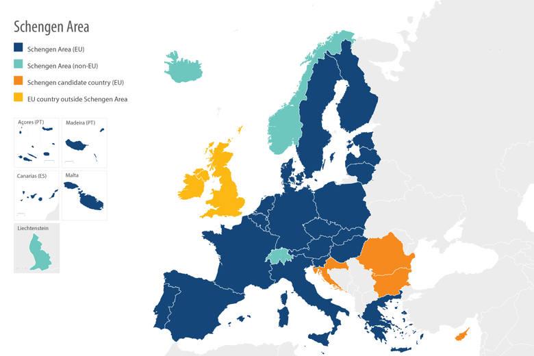 Strefa Schengen. Co to jest? Jakie kraje wchodzą w skład strefy Schengen? Zobacz mapę strefy Schengen w Unii Europejskiej. Polska w Schengen