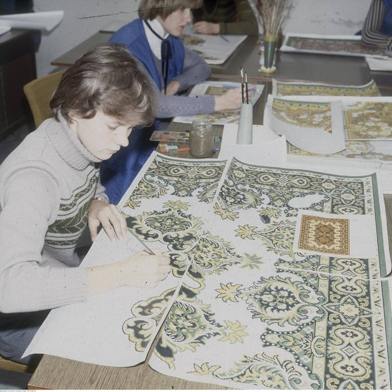 Tak się projektowało dywany w Agnelli. Rok 1979