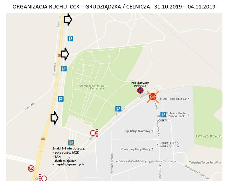Miejski Zarząd Dróg w Toruniu  wprowadza nową organizację ruchu wokół toruńskich cmentarzy. Będzie ona obowiązywała do godz. 10 w poniedziałek 4 listopada.Zobacz