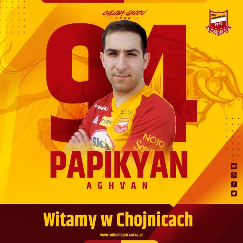 Aghwan Papikjan wybrał Chojniczankę