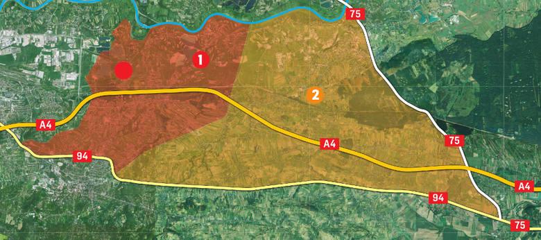 strefa 1: obejmuje Brzegi, Kokotów, Śledziejowice, Czarnochowice, Węgrzce Wielkie i Grabie. <br /> <br /> strefa 2: Niepołomice i Podgrabie ( tereny na zachód od drogi krajowej 75, na północ od drogi krajowej 94 i na wschód od linii kolejowej)