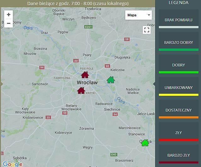 Dziś jakość powietrza we Wrocławiu jest bardzo zła