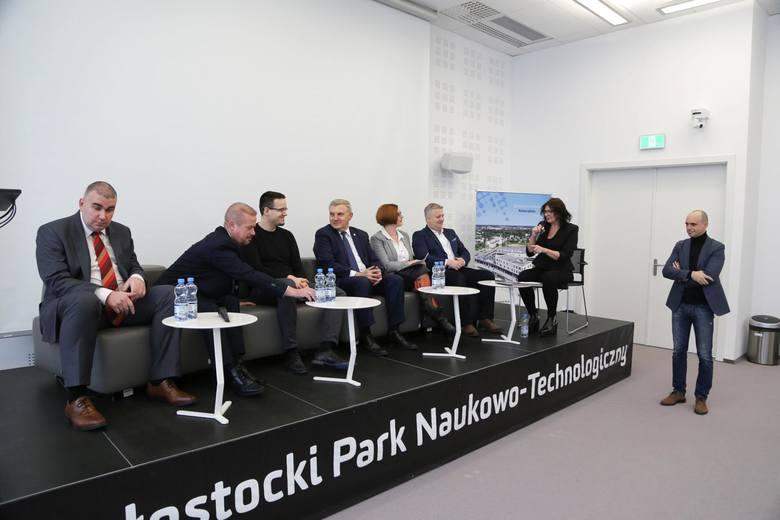 Debata dot. funduszy europejskich w Białostockim Parku Naukowo-Technologicznym