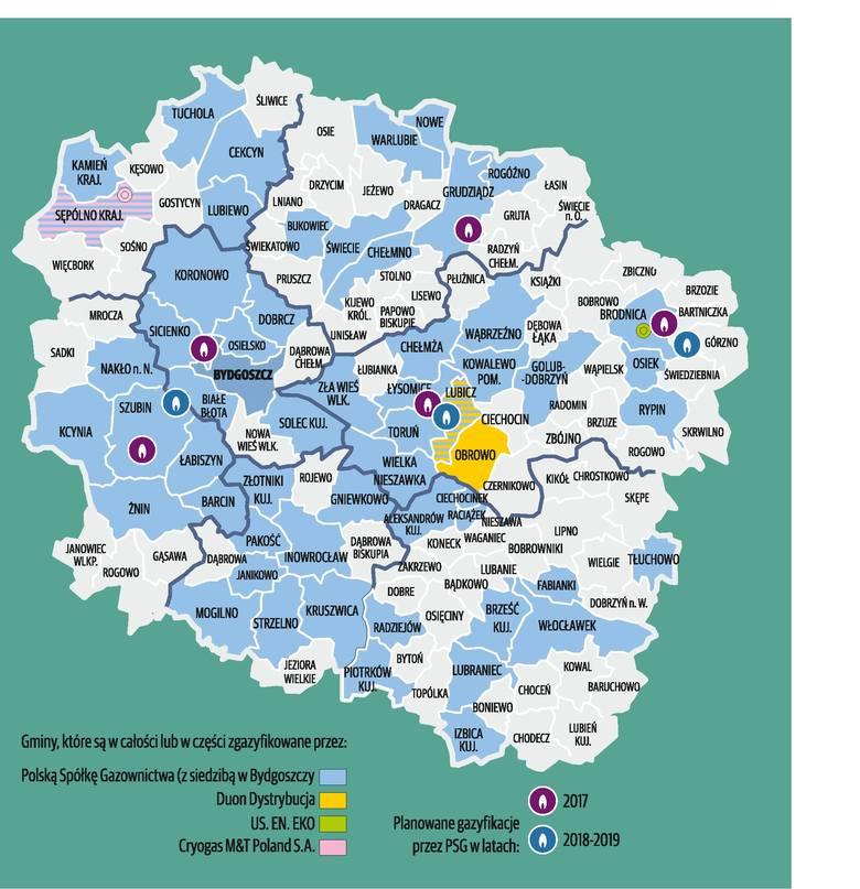 Tam w regionie już wkrótce dopłynie gaz [infografika]