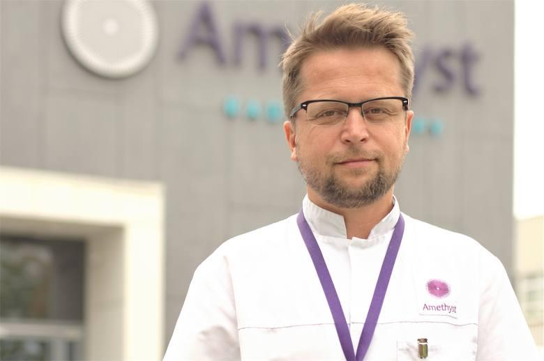 Dr n. med. MARCIN HETNAŁ, dyrektor medyczny Centrum Radioterapii Amethyst w Krakowie