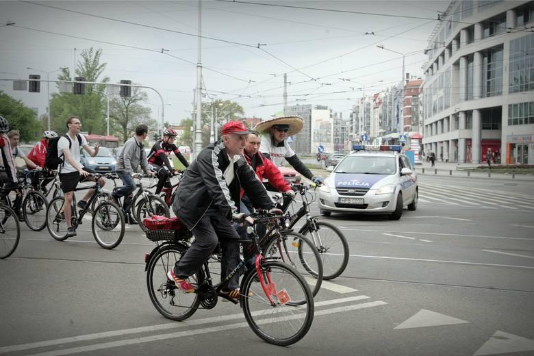 Masa Krytyczna na wrocławskich ulicach