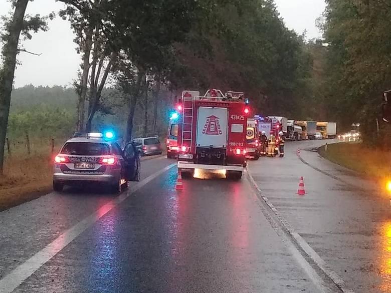Wypadek w rejonie Przybiernowa.