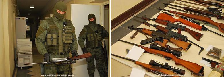 Funkcjonariusze CBŚ odebrali przestępcom cały arsenał broni