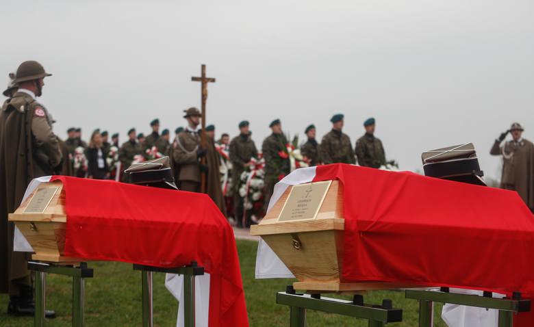 Uroczysty pochówek Żołnierzy Niezłomnych, Leopolda Rząsy i Michała Zygo, w Rzeszowie.