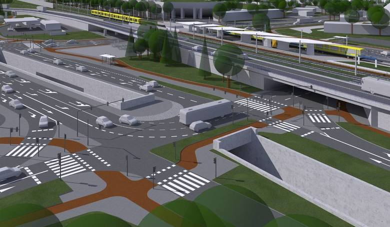 Nowe przebicie w nasypie kolejowym ma powstać naprzeciwko wylotu z ul. Katowickiej w Bohaterów Monte Cassino