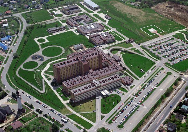 Szpital Wojewódzki z lotu ptaka. To największa placówka medyczna na Podbeskidziu