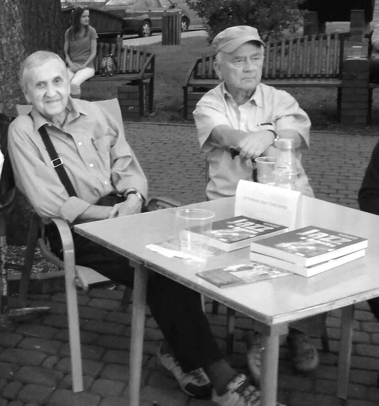 Jedno z ostatnich wspólnych zdjęć Czesława Gawlika i Wojciecha Bronowskiego na rybnickim Kampusie.
