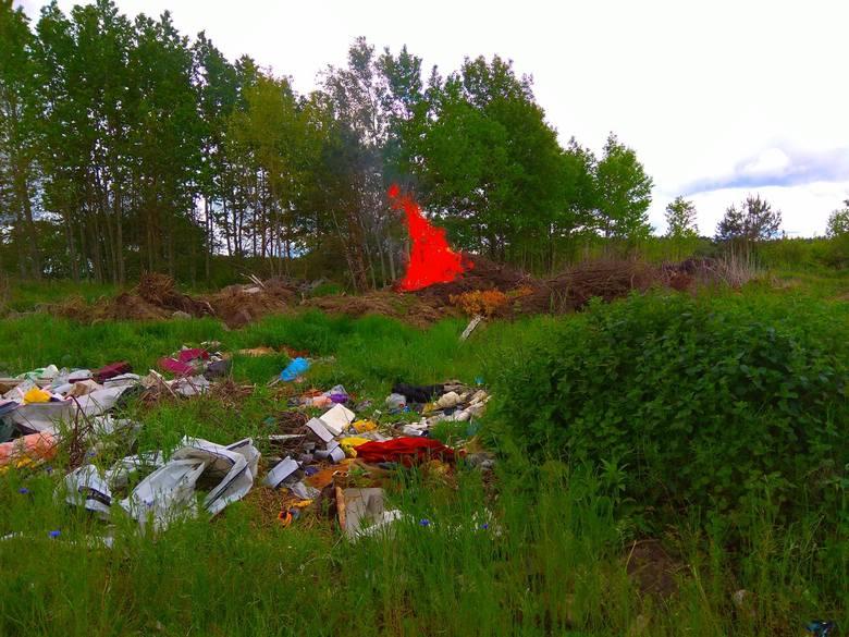 Reduty. Pożar dzikiego wysypiska w gminie Orla (zdjęcia)