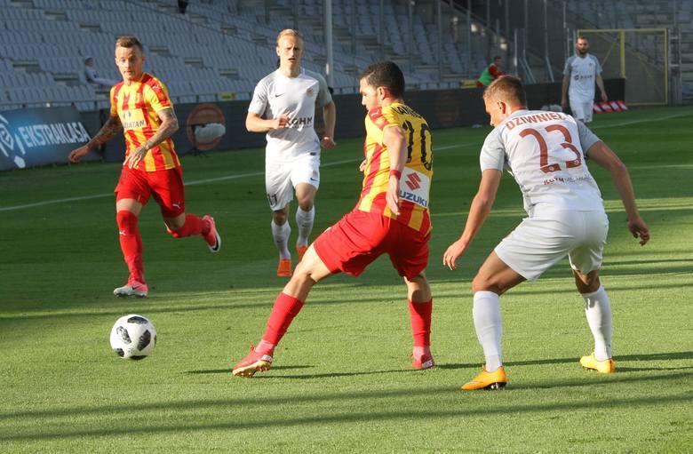 Piłkarze Korony Kielce przegrali ostatni mecz w tym sezonie z Zagłębiem Lubin 0:2. Trener Gino Lettieri dał zadebiutować w tym pojedynku trzem wychowankom