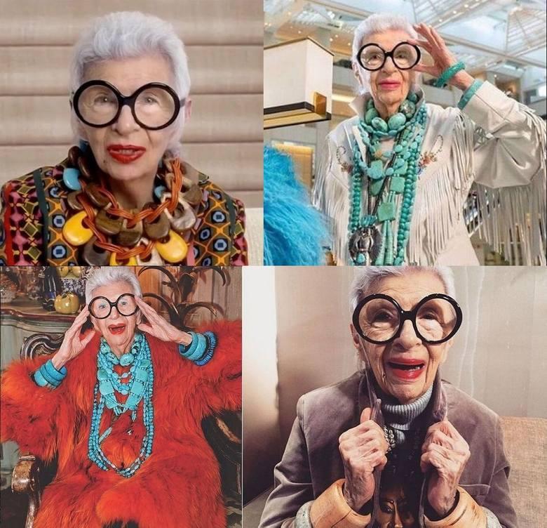 """Są babciami i ikonami stylu. Oto najmodniejsze wiekowe Instagramowiczki - Tziporah Salamon, Ernestine """"Erni"""" Stollberg, Iris Apfel i Linda Rodin, które"""