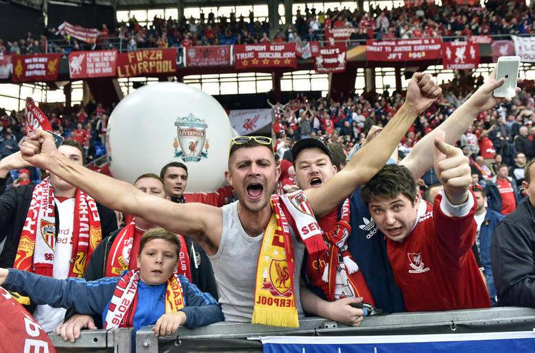 Kibice na meczu Liverpool - Sevilla [GALERIA]