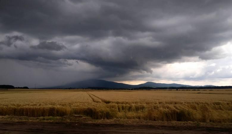 Około południa nad Dolnym Śląskiem pojawiły się burzowe chmury. Nad południową i południowo-zachodnią częścią regionu intensywnie popadało, były też