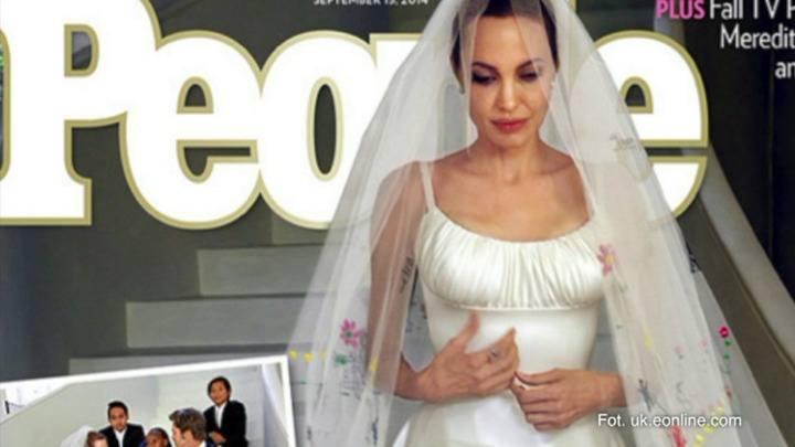 Suknia ślubna Angeliny Jolie (wideo)