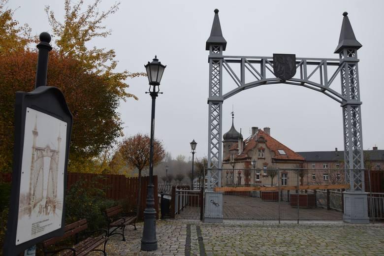 Molo zbudowane na dawnym moście w Bytomiu Odrzańskim