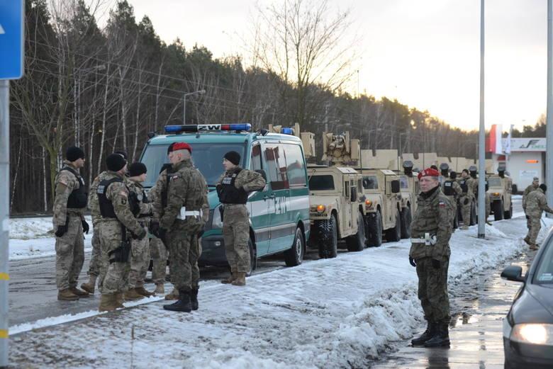 Największa grupa amerykańskich żołnierzy przyjechała do Żagania 12 stycznia 2017 r.
