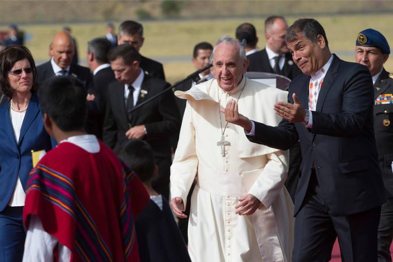Papież Franciszek z prezydentem Ekwadoru